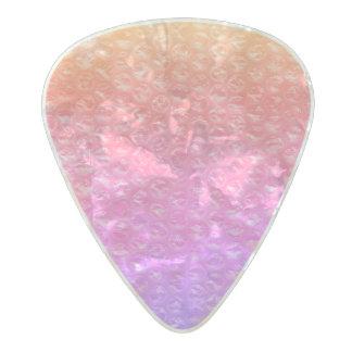 Púa De Guitarra Celuloide Nacarado Rosa del plástico de burbujas de la gaseosa de la