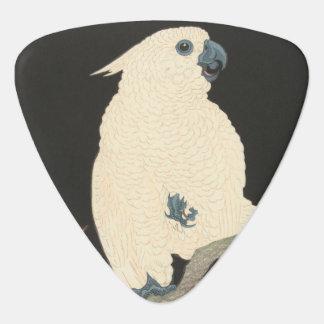 Púa De Guitarra Cockatoo japonés de la bella arte el | del vintage
