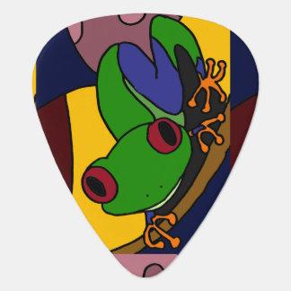 Púa de guitarra colorida del extracto del arte de