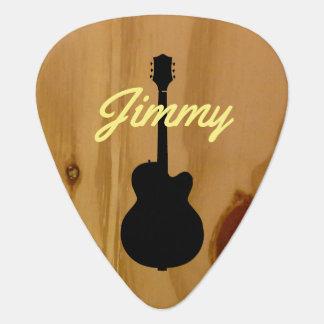 Púa De Guitarra conocidos manuscritos de madera de la guitarra se