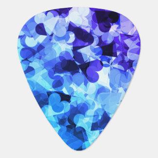 Púa De Guitarra Corazones azules púrpuras de Kawaii