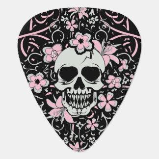 Púa De Guitarra Cráneo femenino del vintage