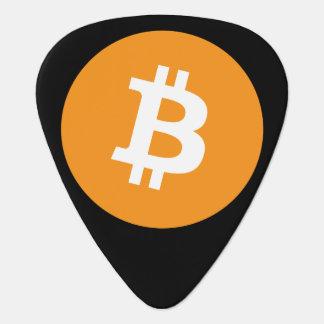 Púa de guitarra Crypto de Bitcoin del símbolo