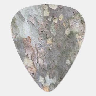 Púa de guitarra de la corteza de árbol