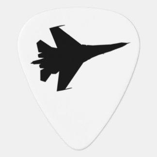 Púa de guitarra de la silueta F-16