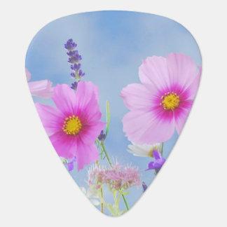 Púa de guitarra de moda de la flor salvaje de las