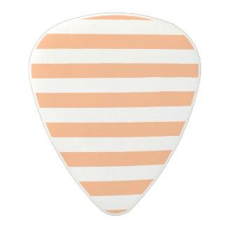 Púa De Guitarra De Policarbonato Modelo anaranjado y blanco de la raya