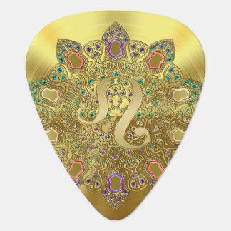 Púa de guitarra del monograma de la mandala de Leo