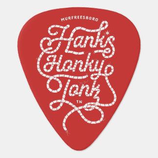 Púa de guitarra del rojo de Tonk del Honky de Hank