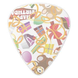 Púa De Guitarra Delrin Blanco Ejemplo del modelo del feliz cumpleaños