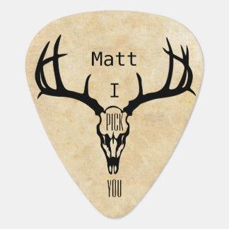 Púa De Guitarra DÓLAR personalizado del macho de los ciervos