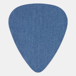 Púa De Guitarra Dril de algodón azul original de la mezclilla de
