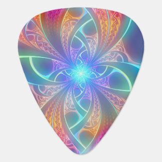 Púa De Guitarra El arco iris psicodélico remolina modelo del