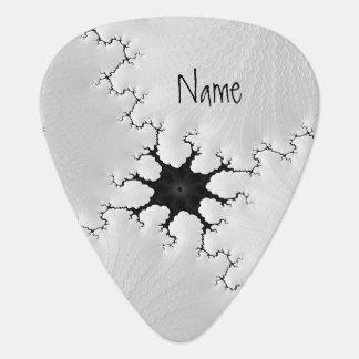 Púa De Guitarra El arte agrietado blanco y negro del fractal añade