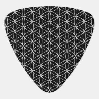 Púa De Guitarra Flor de DES Lebens - modelo de plata de la vida/de