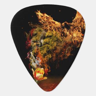 Púa De Guitarra Flor de Phoenix