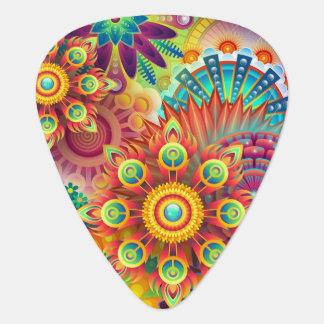 Púa De Guitarra Flores maravillosas