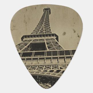 Púa De Guitarra Foto vieja de la torre Eiffel
