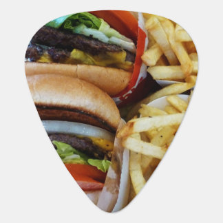 Púa De Guitarra Fritadas de n de las hamburguesas '