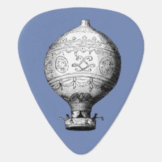 Púa De Guitarra Globo del aire caliente del vintage de Montgolfier