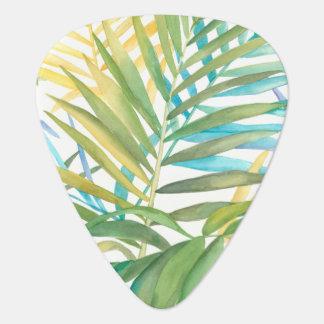Púa De Guitarra Hojas de palma tropicales