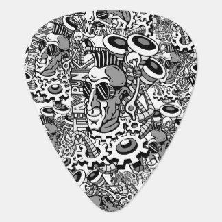 Púa De Guitarra hombre del corte de pelo del mohawk del steampunk