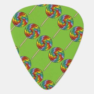 Púa De Guitarra Impresión del orgullo del caramelo del Lollipop de