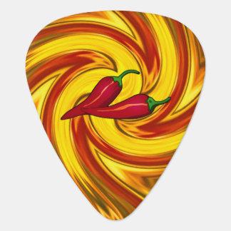 Púa De Guitarra los pimientos picantes resumen la mandala