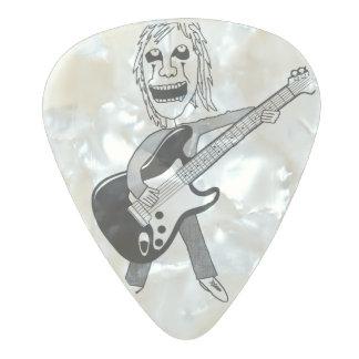 Púa de guitarra maniaca de metales pesados púa de guitarra celuloide nacarado