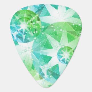 Púa De Guitarra Mirada del diamante artificial del compás de la