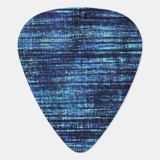 Púa De Guitarra Modelo del tejano azul oscuro