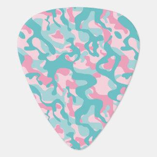 Púa De Guitarra Modelo femenino del camuflaje de la primavera