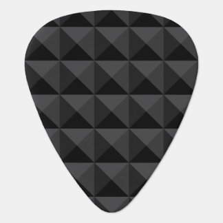 Púa De Guitarra Modelo geométrico moderno de la casilla negra