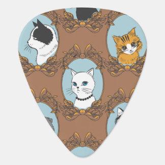 Púa De Guitarra Modelo lindo de los gatos