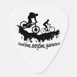 Púa De Guitarra Montaña Biking cita inspirada del buen tiempo