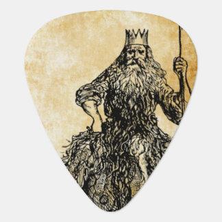Púa De Guitarra padre Neptuno en el pergamino