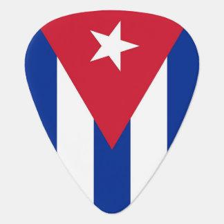 Púa de guitarra patriótica con la bandera de Cuba