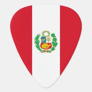 Púa de guitarra patriótica con la bandera de Perú