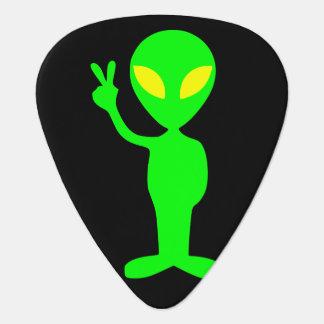Púa De Guitarra Pequeños hombres verdes del signo de la paz