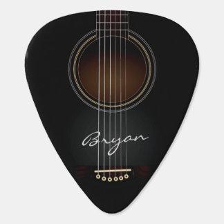 Púa de guitarra personal negra de la guitarra púa de guitarra