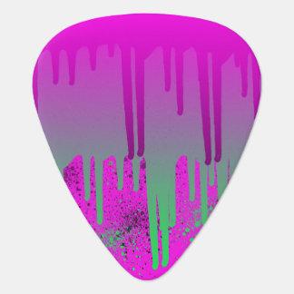 Púa De Guitarra Pintura rosada de Drippin