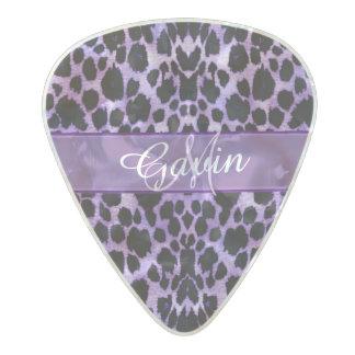 Púa de guitarra púrpura personalizada del púa de guitarra celuloide nacarado