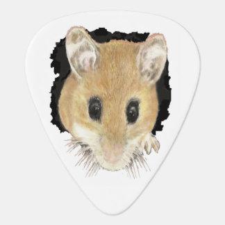 Púa De Guitarra Ratón lindo del arte animal que mira a escondidas