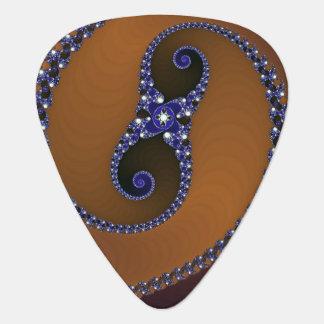 Púa De Guitarra Remolino abstracto azul de Brown