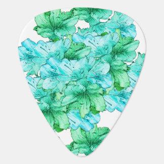 Púa De Guitarra Reserva azulverde del ejemplo de la flor la fecha