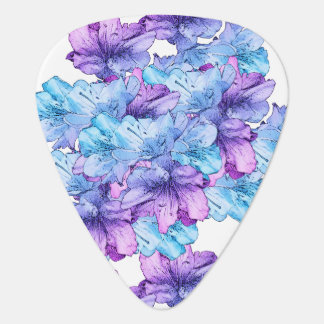 Púa De Guitarra Reserva púrpura azul del ejemplo de la flor la
