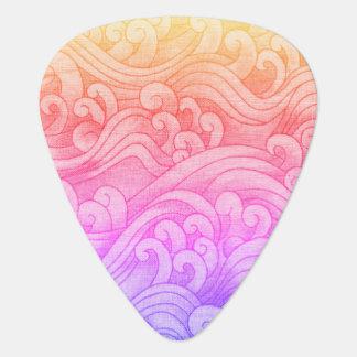 Púa De Guitarra Rosa de las ondas de marea de la sirena de