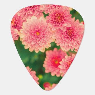 Púa de guitarra rosada de moda de la flor de las