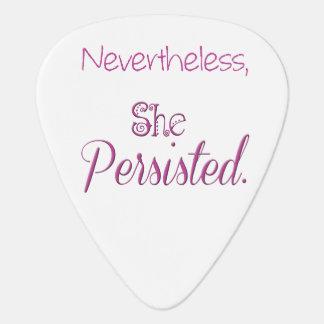Púa De Guitarra Sin embargo ella persistió