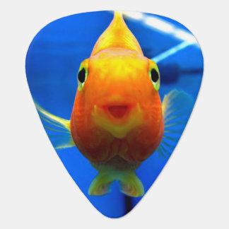 Púa de guitarra sonriente del Goldfish